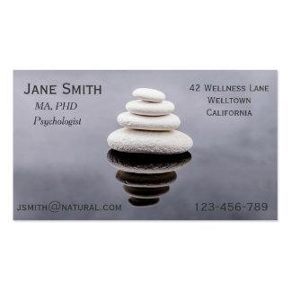 Freelance Psychologist Therapist Zen stones Pack Of Standard Business Cards