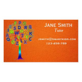 Freelance tutor or teacher for any subject business card