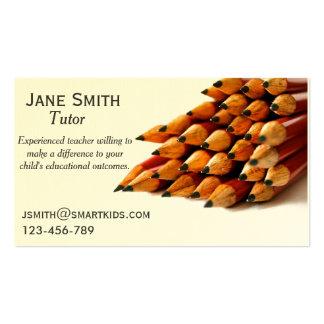 Freelance tutor or teacher stylish pencil business cards