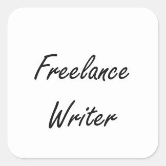 Freelance Writer Artistic Job Design Square Sticker