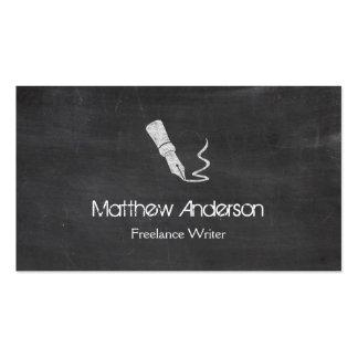 Freelance Writer - Blackboard Chalkboard Look Pack Of Standard Business Cards