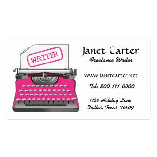 Freelance Writer Business Cards Pink Cheetah