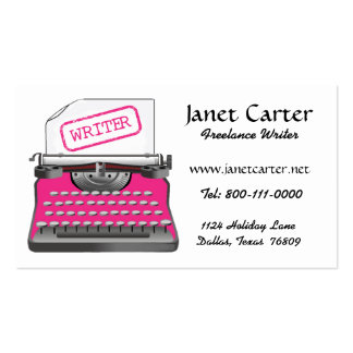 Freelance Writer Business Cards/Pink Cheetah Pack Of Standard Business Cards