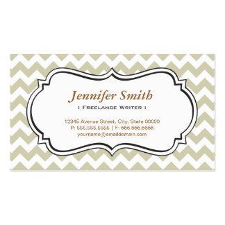 Freelance Writer - Chevron Simple Jasmine Pack Of Standard Business Cards