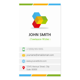 Freelance Writer - Colorful with QR Code Pack Of Standard Business Cards