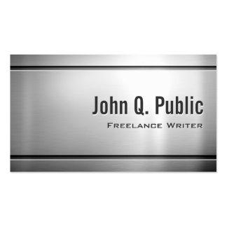 Freelance Writer - Cool Stainless Steel Metal Business Card