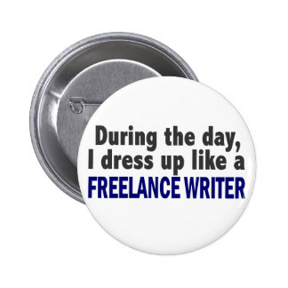 Freelance Writer During The Day Button