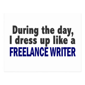 Freelance Writer During The Day Postcard