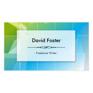 Freelance Writer - Modern Elegant Simple Pack Of Standard Business Cards