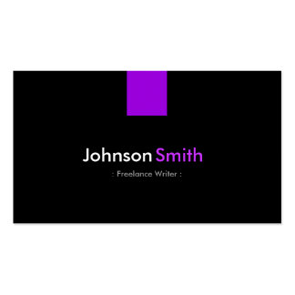 Freelance Writer - Modern Purple Violet Business Card Templates