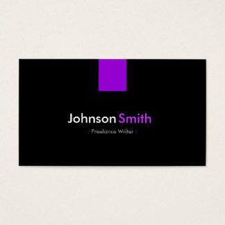 Freelance Writer - Modern Purple Violet Business Card
