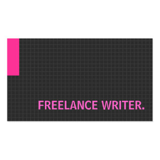Freelance Writer- Multiple Purpose Pink Pack Of Standard Business Cards