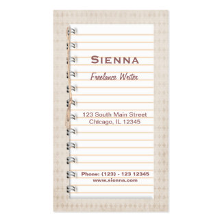 Freelance Writer Pack Of Standard Business Cards
