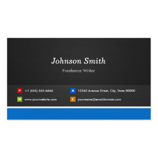 Freelance Writer - Professional Customizable Pack Of Standard Business Cards