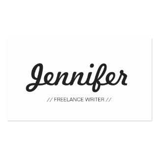 Freelance Writer - Stylish Simple Concise Pack Of Standard Business Cards