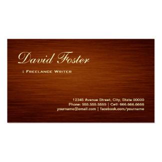 Freelance Writer - Wood Grain Look Pack Of Standard Business Cards