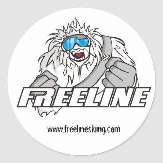 FreeLine Team Logo Classic Round Sticker
