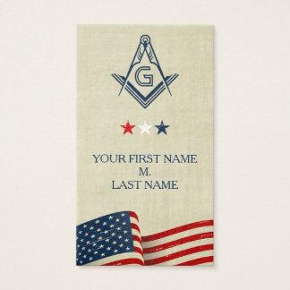 Freemason Business Cards | Old Glory American Flag