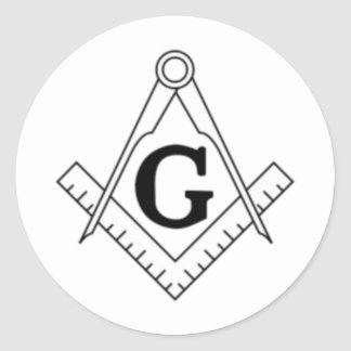 Freemason Classic Round Sticker