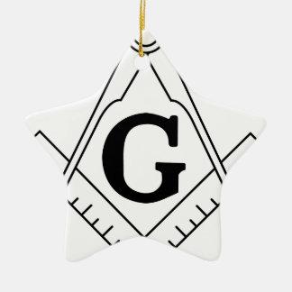 Freemason masonic logo ceramic ornament