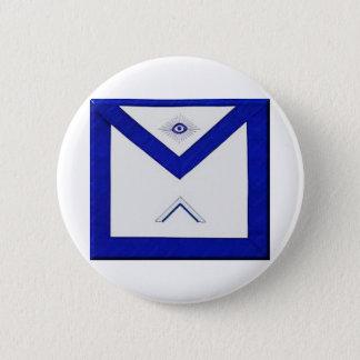 Freemason Master's Apron 6 Cm Round Badge