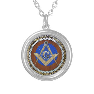 freemason NWO conspiracy square & compass Silver Plated Necklace