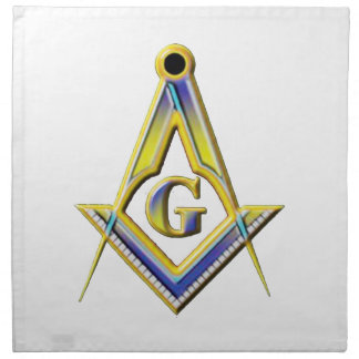 Freemason Square & Compasses Napkin