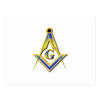 Freemason Square & Compasses Postcard