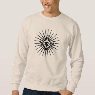 Freemason symbol, Allsehendes eye, square Sweatshirt