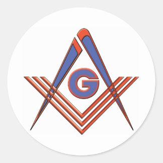Freemason symbol classic round sticker
