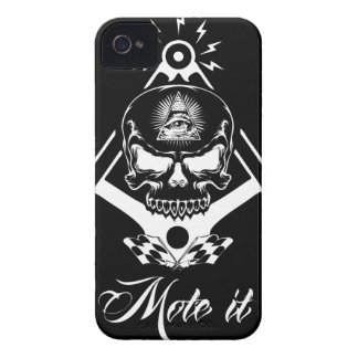 Freemason-Widows-Sons-Masonic-Hotrod-Logo-20160407 iPhone 4 Case-Mate Cases