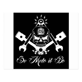 Freemason-Widows-Sons-Masonic-Hotrod-Logo-20160407 Postcard