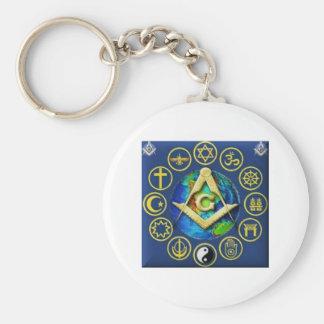 Freemasonry All Religions Key Ring