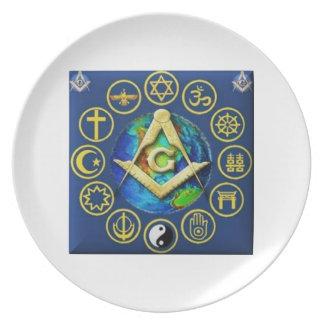 Freemasonry All Religions Plate