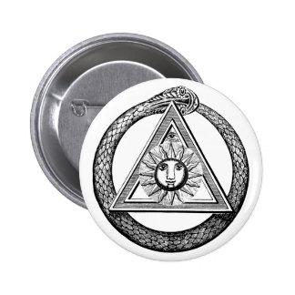 Freemasonry All Seeing Eye Masonic Symbol 6 Cm Round Badge