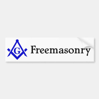 Freemasonry Bumper Sticker