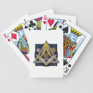 Freemasonry Emblem Bicycle Playing Cards
