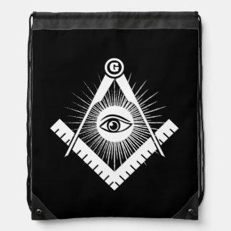 Freemasonry symbol drawstring bag