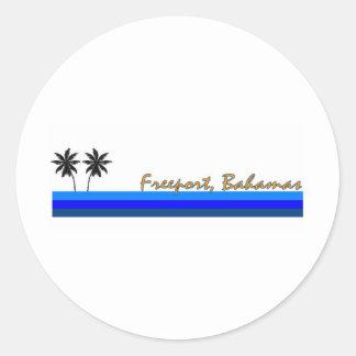 Freeport, Bahamas Classic Round Sticker