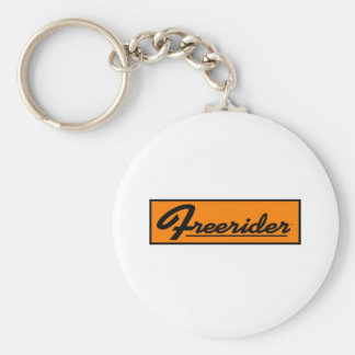 FREERIDER Orange Banner Basic Round Button Key Ring
