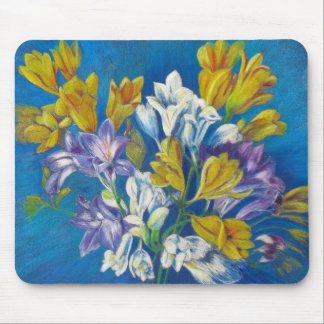 Freesia Posy Painting Mouse Pad