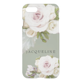 Freesia Roses n Succulent Painterly Floral Artwork iPhone 7 Case