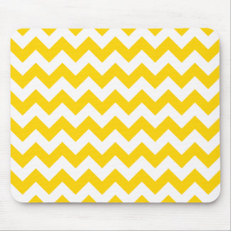 Freesia Yellow Chevron Zigzag Mouse Pad