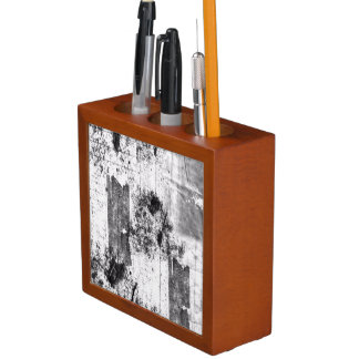 Freestyle In Black And White Desk Organizer