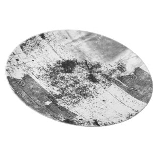 Freestyle In Black And White Melamine Plate