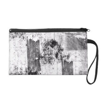 Freestyle In Black And White Wristlet Bag