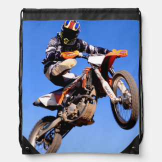 Freestyle motocross drawstring bag