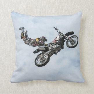 Freestyle Motocross Stunt Throw Pillow Throw Cushion