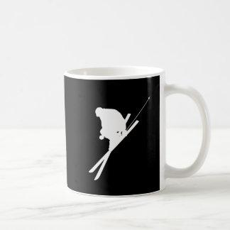 Freestyle skiing basic white mug