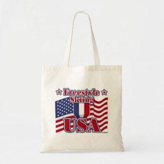 Freestyle Skiing USA Budget Tote Bag